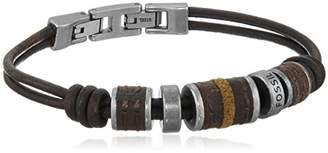 Fossil Rondell Leather Wrap Bracelet