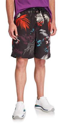 Diesel Men's P Notery Foliage-Print Shorts