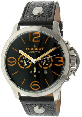 Peugeot Men's Automatic Leather Strap Watch
