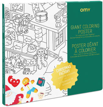 Sale - Father Christmas's Workshop Giant Colouring Poster - Omy