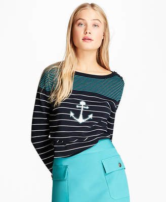 Brooks Brothers Cotton Anchor Sweater