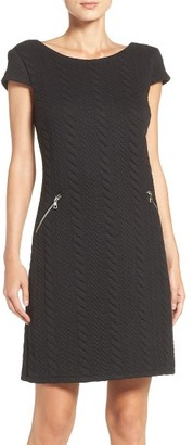 Women's Chetta B Textured Knit Shift Dress $118 thestylecure.com