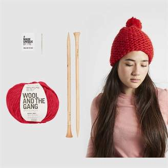 Wool & The Gang Wool and the Gang Happy Daze Beanie Knitting Kit Lipstick Red