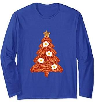 Christmas Tree Long Sleeve Shirt Fried Eggs Bacon Toast Star