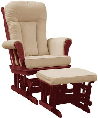 Dream On Me Mission Glider and Ottoman Cushion, Cherry/Beige
