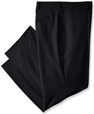 Louis Raphael Rosso Men's Big-Tall Flat Front Easy Care Dress Pant Hidden Flex Waistband