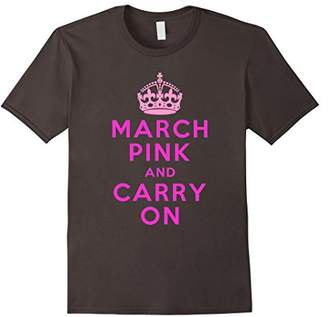 March Pink and Carry On Political Activist Tshirt