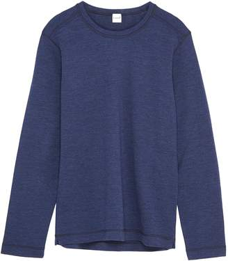 Eidos Contrast topstitching wool long sleeve T-shirt