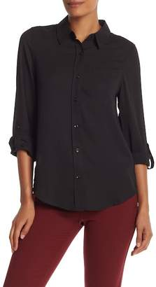 Nanette Lepore NANETTE Crepe Chiffon Button Up Shirt