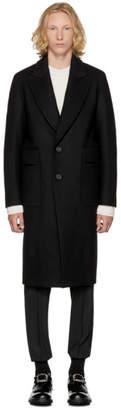 Wooyoungmi Black Cut-Out Pocket Coat