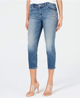INC International Concepts I.n.c. Embellished Capri Jeans