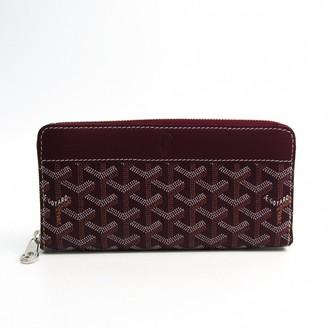 Goyard Matignon Burgundy Leather Wallets