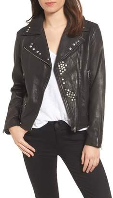 True Religion Brand Jeans Studded Leather Jacket