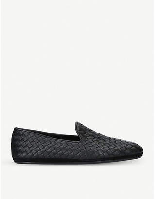 Bottega Veneta Woven leather slippers