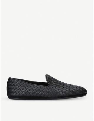 Bottega Veneta Woven leather slippers