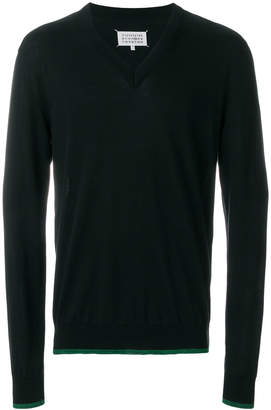 Maison Margiela V-neck fitted sweater