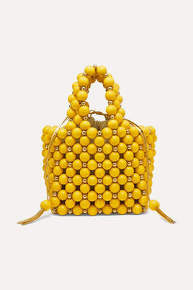 Vanina - Simi Small Beaded Tote - Yellow