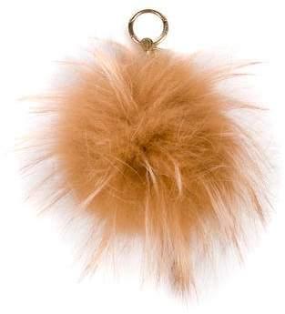 Michael Kors Fox Fur Pom-Pom Keychain