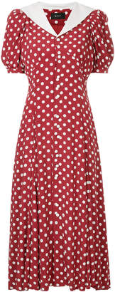 G.V.G.V. polka dot solid collar dress
