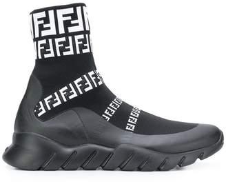 Fendi logo sneaker boots
