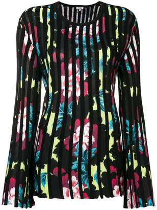 Kenzo pleated floral sweater