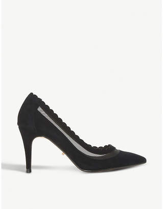 Dune Britania pointed-toe suede courts