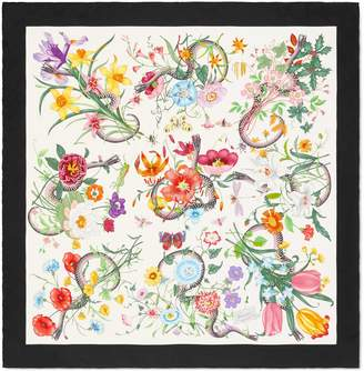 Flora Snake print silk scarf $485 thestylecure.com