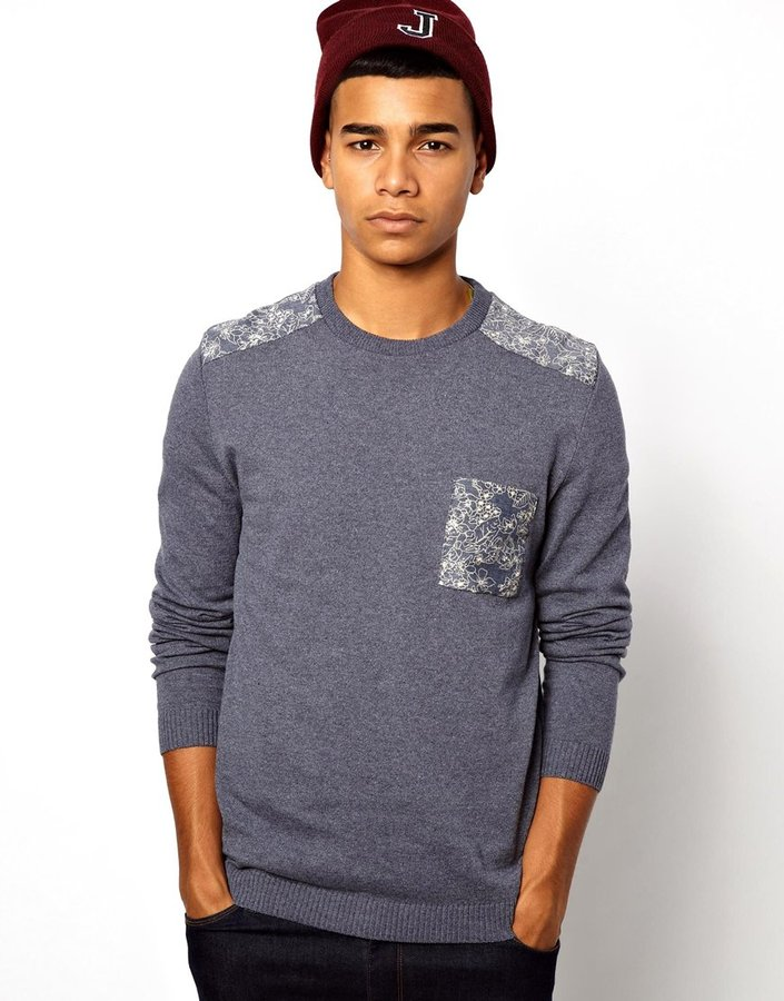 Asos Patched Sweater