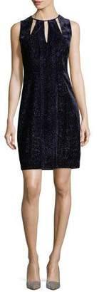 Elie Tahari Jemra Sleeveless Velvet Sheath Dress, Mystic Grape