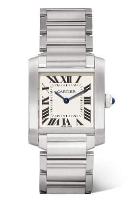Cartier Tank Française Medium 25.05mm Stainless Steel Watch - Silver