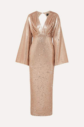 Rasario Sequined Crepe Gown - Neutral