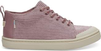 Light Mauve Corduroy Youth Lenny Mid Sneakers