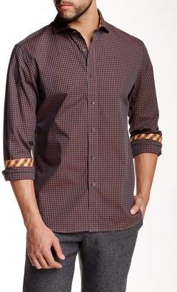 James Tattersall St. Ives Deep Tone Check Modern Fit Shirt