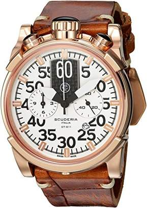 CT Scuderia Men's 'Touring' Swiss Quartz Stainless Steel and Leather Casual Watch