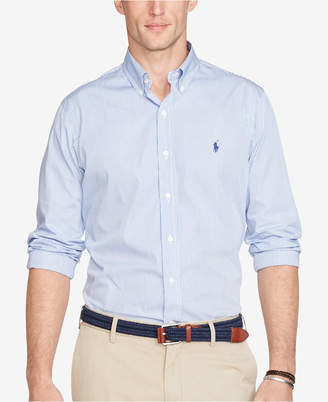 Polo Ralph Lauren Men's Long Sleeve Hairline-Striped Poplin Shirt