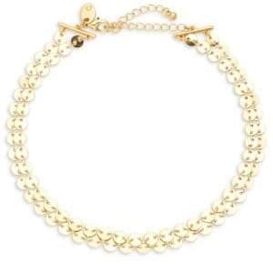 Ava & Aiden Goldtone Double-Row Choker Necklace