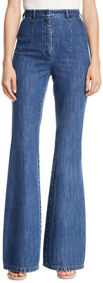 Michael Kors High-Waist Flared-Leg Jeans