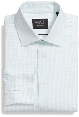 Nordstrom Tech-Smart Traditional Fit Stretch Tattersall Dress Shirt