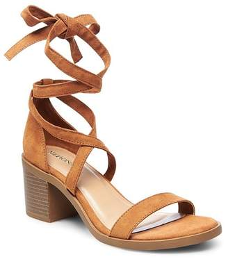 Merona Women's Matilda Lace Up Heeled Quarter Strap Sandals $27.99 thestylecure.com