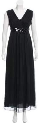Philosophy di Alberta Ferretti Embellished Silk Maxi Dress
