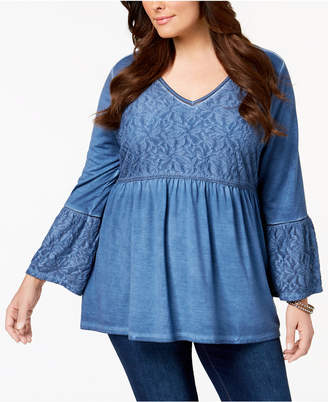Style&Co. Style & Co Plus Size Patterned Babydoll Tunic, Created for Macy's