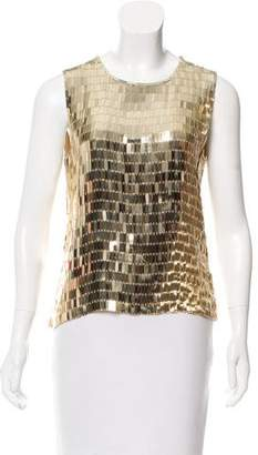 DKNY Sequined Sleeveless Top