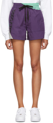Alexander Wang Purple Heavy Washed Shorts
