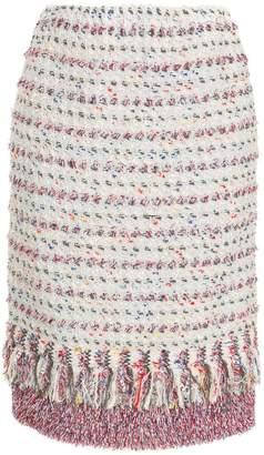 Coohem tweed fringed pencil skirt