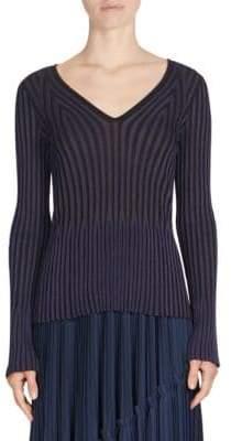 Kenzo Pleated V-Neck Sweater