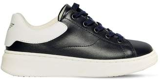 Emporio Armani Leather Lace Up Sneakers