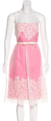 Valentino Silk Lace Sleeveless Dress w/ Tags