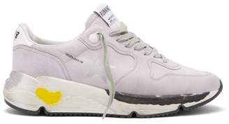 Golden Goose Running Sole Low Top Suede Trainers - Womens - Light Purple