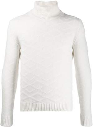 Tagliatore diamond textured jumper