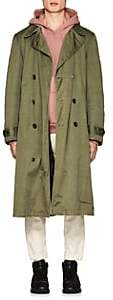AS65 Men's Fur-Lined Cotton Trench Coat-Olive